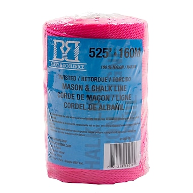 Barry & Boulerice Pink Mason/Chalk Line, 525', 10/Pack