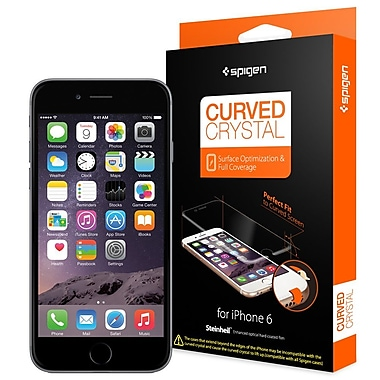 Spigen Steinheil Curved Crystal for iPhone 6, Screen Protector, Crystal Clear