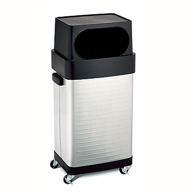 Seville Classics Ultra Heavy-Duty Commercial Stainless Steel Trash Can, 17-Gallon