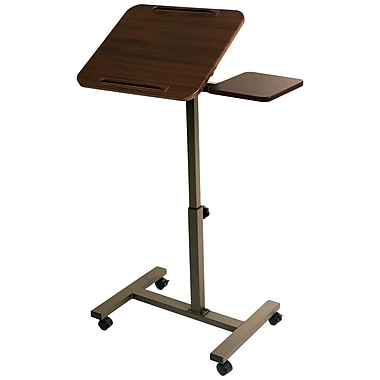 Seville Classics Mobile Laptop Desk with Side Table