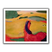 ArtWall 'Horse in a Landscape' by Franz Marc  Painting Print on Canvas; 40'' H x 52'' W