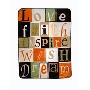 Shavel Love Faith Inspire Throw Blanket