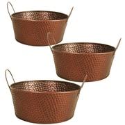 WaldImports Hammered Metal Fruit Basket (Set of 3)