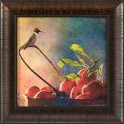 Ashton Wall D cor LLC Ashton Art & D cor Apples and Hummers Framed Painting Print