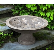 Campania International, Inc Falling Leaves Birdbath; Alpine Stone