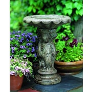 Campania International, Inc Cherub Birdbath; Alpine Stone