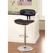 Hokku Designs Tyler I Adjustable Height Swivel Bar Stool with Cushion