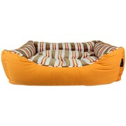 MyDog'sBoutique Canvas Striped Dog Bed; Orange