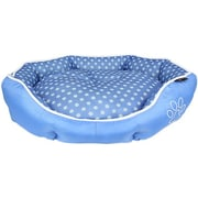 MyDog'sBoutique Polka Dot Dog Bed; Blue