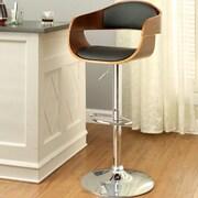 Hokku Designs Tyler III Adjustable Height Swivel Bar Stool with Cushion