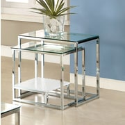 Hokku Designs Estrava 2 Piece Nesting Tables; White