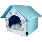 MyDog'sBoutique Cotton Candy House Dog Bed; Blue