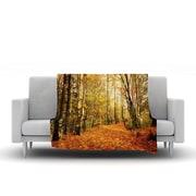 KESS InHouse Autumn Leaves by Sylvia Cook Fleece Throw Blanket; 80'' H x 60'' W x 1'' D