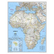 National Geographic Maps Africa Classic Wall Map; Standard Size Paper (31''H x 24''W)