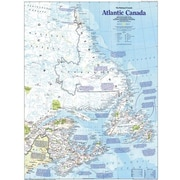 National Geographic Maps Atlantic Canada Two-Sided Map; Basic