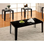 Hokku Designs Enichi 3 Piece Coffee Table Set; Black