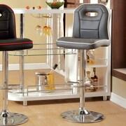 Hokku Designs Fonzo Adjustable Height Swivel Bar Stool with Cushion; Gray
