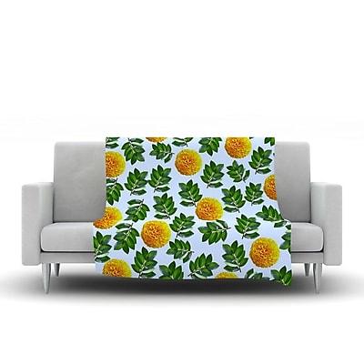 KESS InHouse More Marigold by Sreetama Ray Fleece Throw Blanket; 40'' H x 30'' W x 1'' D WYF078277655574