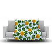 KESS InHouse More Marigold by Sreetama Ray Fleece Throw Blanket; 60'' H x 50'' W x 1'' D