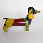Rustic Arrow Weiner Dog Statue; Large