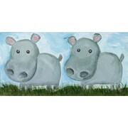Judith Raye Paintings Two Hippos by Judith Raye Original Painting Print