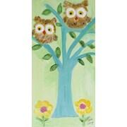 Judith Raye Paintings Two Fuzzy Owls by Judith Raye Original Painting Print