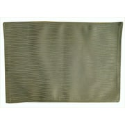 Textiles Plus Inc. Wave Wrinkle Quilt Placemat (Set of 4); Olive