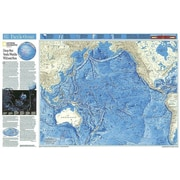 National Geographic Maps World Pacific Ocean Floor Map; Basic Size (23''H x 32''W)