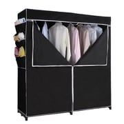 ATH Home 63'' H x 60'' W x 20'' D Portable Closet in Black