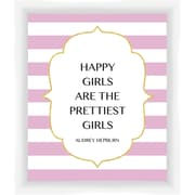PTM Images Happy Girls Giclee Print Framed Textual Art