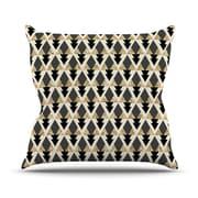 KESS InHouse Glitter by Nika Martinez Geometric Throw Pillow; 16'' H x 16'' W x 3'' D