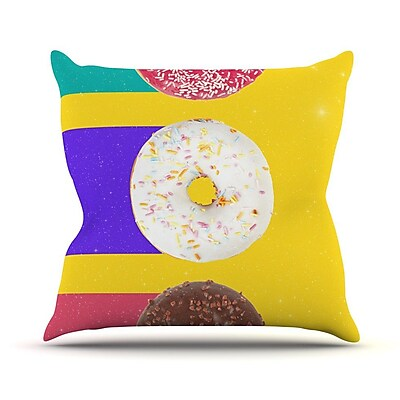 KESS InHouse Donuts by Danny Ivan Throw Pillow; 18'' H x 18'' W x 1'' D WYF078277638199