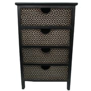 River of Goods Honeycomb 4 Drawer Chest