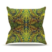 KESS InHouse Yellow Jacket by Nikposium Abstract Cotton Throw Pillow; 20'' H x 20'' W x 4'' D