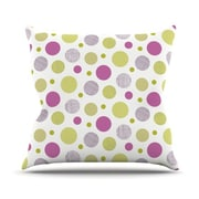 KESS InHouse Rhapsody Dot by Julie Hamilton Throw Pillow; 16'' H x 16'' W x 3'' D