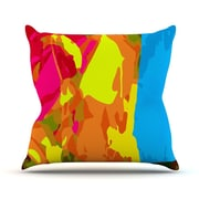 KESS InHouse Colored Plastic by Matthias Hennig Throw Pillow; 16'' H x 16'' W x 3'' D