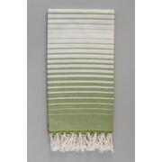 Antiochia Illusion Bath Towel; Green