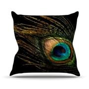 KESS InHouse Peacock  Cotton Throw Pillow