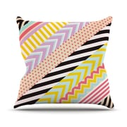 KESS InHouse Diagonal Tape by Louise Machado Geometric Throw Pillow; 20'' H x 20'' W x 4'' D