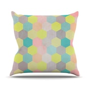 KESS InHouse Pastel Hexagon by Louise Machado Geometric Throw Pillow; 26'' H x 26'' W x 5'' D