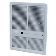 TPI Double Pole 16,380 BTU Wall Insert Electric Fan Heater Heater with Thermostat; White