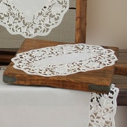 Xia Home Fashions Somerset Embroidered Cutwork Tray Doily (Set of 4)