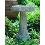 Campania International, Inc Floral Bridbath; Alpine Stone