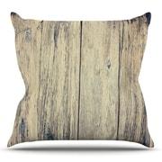 KESS InHouse Wood Photography II by Beth Engel Cotton Throw Pillow; 18'' H x 18'' W x 1'' D