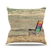 KESS InHouse Beach Chair by Angie Turner Sandy Beach Throw Pillow; 26'' H x 26'' W x 1'' D