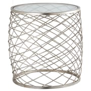 MarianaHome Criss Cross End Table; Silver