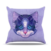 KESS InHouse Cute Kitten by Ancello Cat Throw Pillow; 16'' H x 16'' W x 1'' D