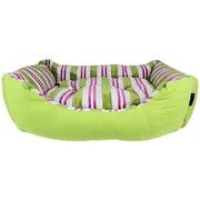MyDog'sBoutique Canvas Striped Dog Bed; Green