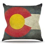 KESS InHouse State Flag of Colorado by Bruce Stanfield Throw Pillow; 18'' H x 18'' W x 1'' D