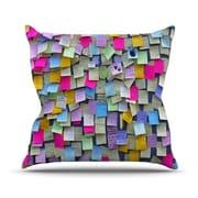 KESS InHouse Respekt by Trebam Rainbow Paper Throw Pillow; 20'' H x 20'' W x 4'' D